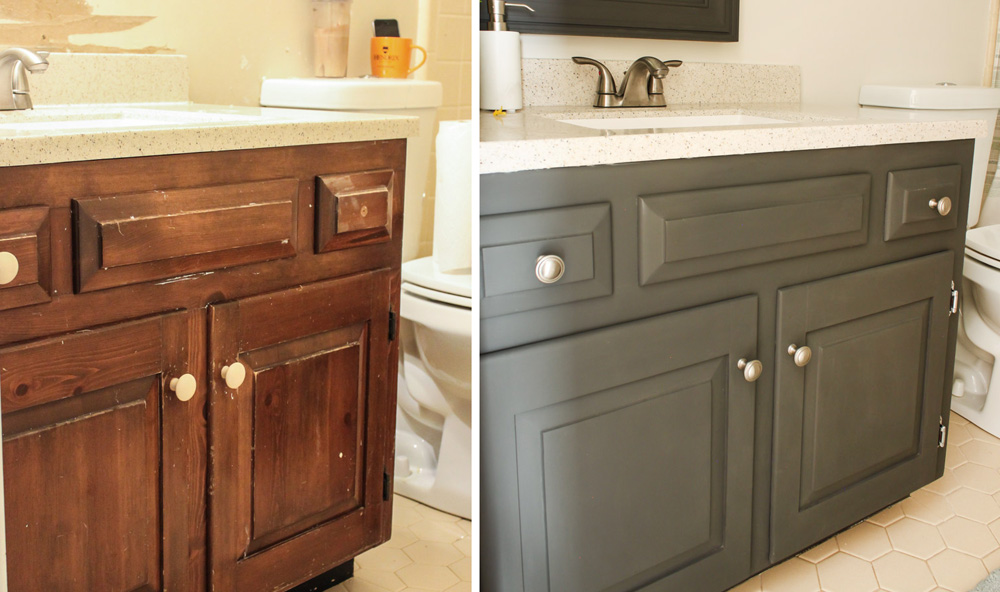 How to Save a Dated Bathroom Vanity - Pretty Handy Girl