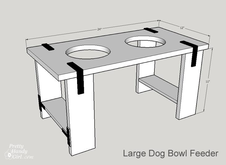 Rustic Industrial Dog Bowl Feeder Stand | Pretty Handy Girl
