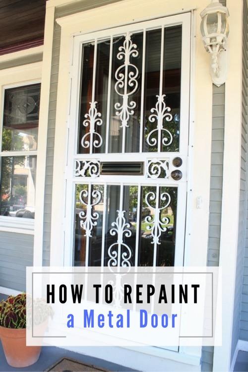 How to repaint a metal storm door pretty handy girl - How to paint a steel exterior door ...