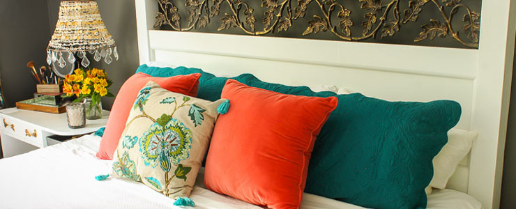 Colorful Fall Master Bedroom: Part 3