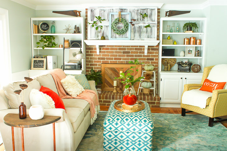 Colorful Fall Home Tour 2016 Part 1 Pretty Handy Girl