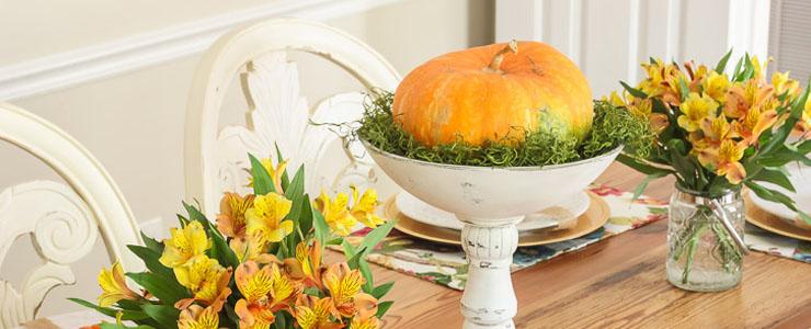 Colorful Fall Tablescape Home Tour: Part 2
