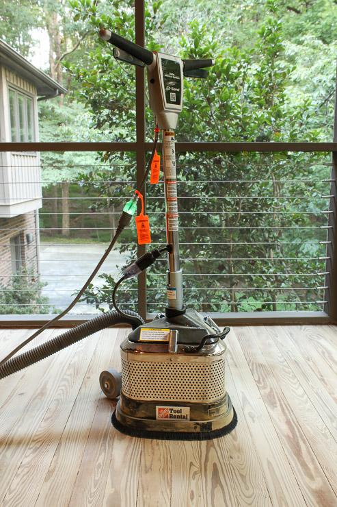 Rent a floor sander to sand flooring