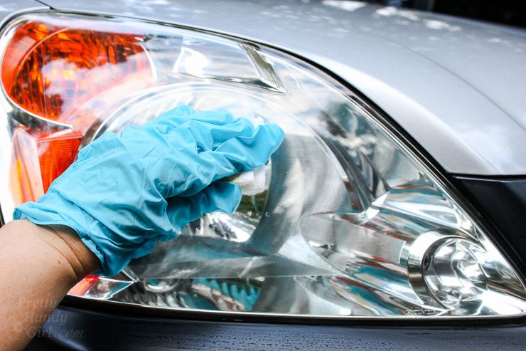 Easiest Way to Restore Automobile Headlights | Pretty Handy Girl