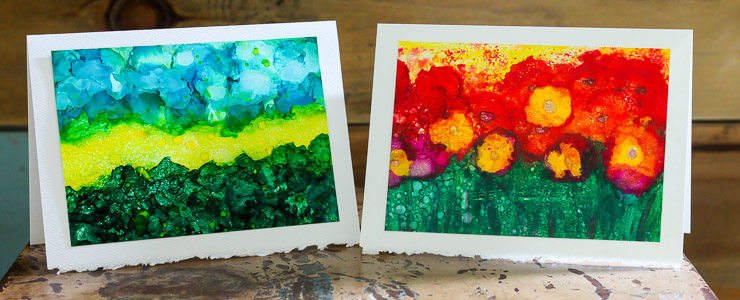 Painting with Alcohol Inks   Pretty Handy Girl