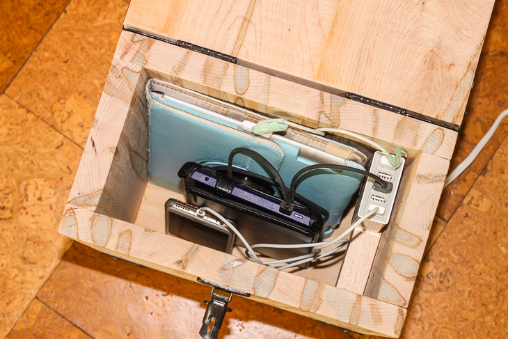 Industrial Charging Station & Lock Box   Pretty Handy Girl
