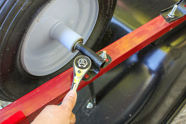 How to Replace a Wheelbarrow Wheel in 5 Minutes   Pretty Handy Girl