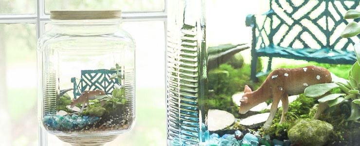 Woodland Fairy Garden in a Jar – Styled x3