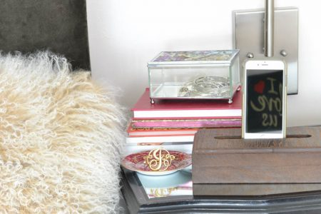 This DIY cell phone holder and charging station is a great last minute gift idea.