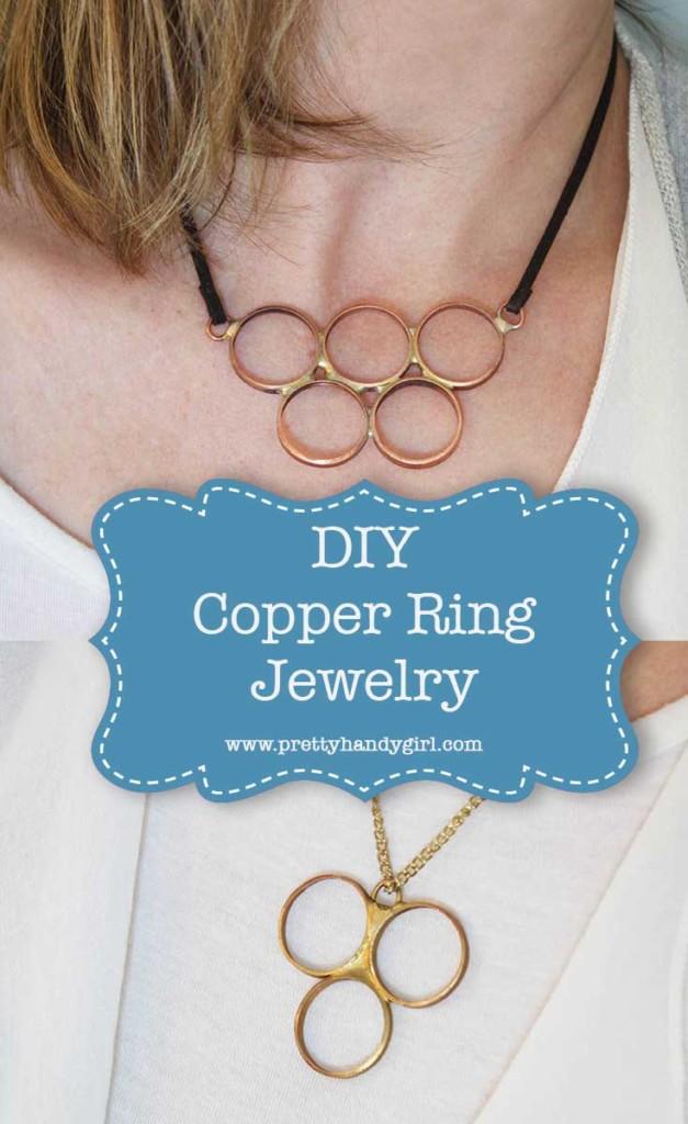 This DIY copper ring jewelry is the perfect idea for a handmade gift! | Pretty Handy Girl #prettyhandygirl #giftidea #DIYgift #DIYjewelry