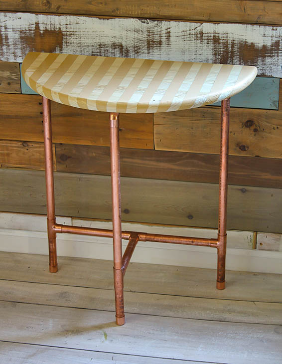 Half Round Copper Table Giveaway   Pretty Handy Girl