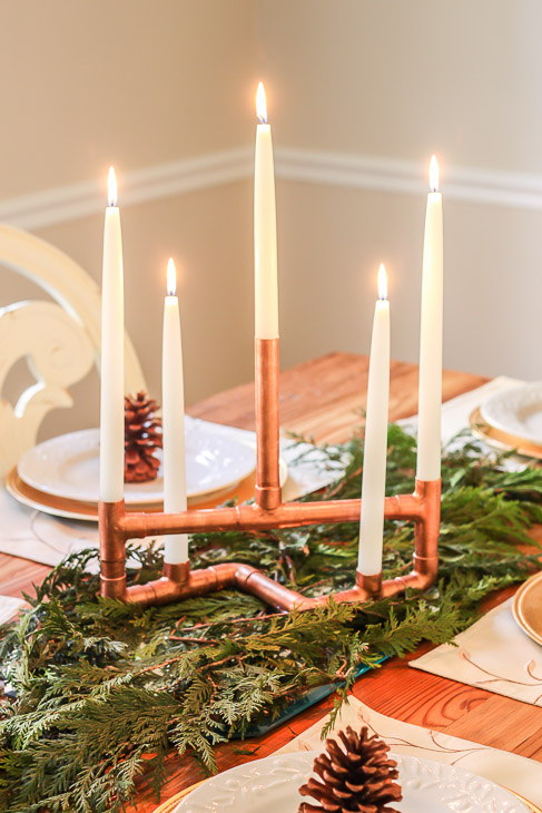 Diy copper pipe centerpiece pretty handy girl