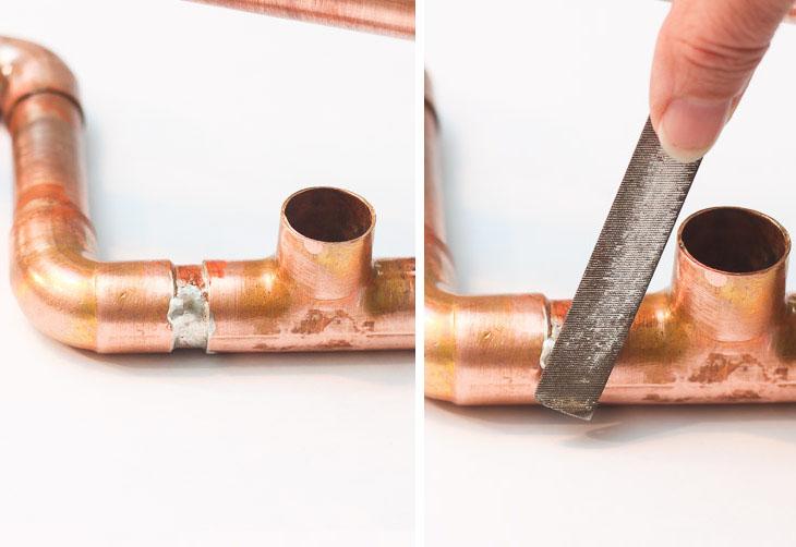 DIY Copper Pipe Centerpiece | Pretty Handy Girl