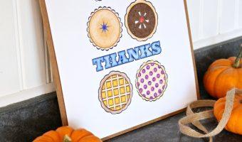 Thanksgiving Pie Free Printable