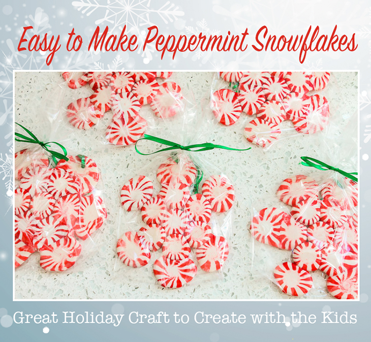 Easy Peppermint Snowflakes | Pretty Handy Girl