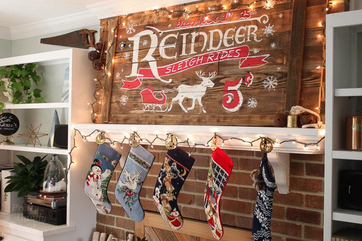 reindeer-sleigh-rides-rustic-wood-sign