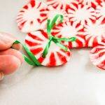 Easy Peppermint Star Ornaments