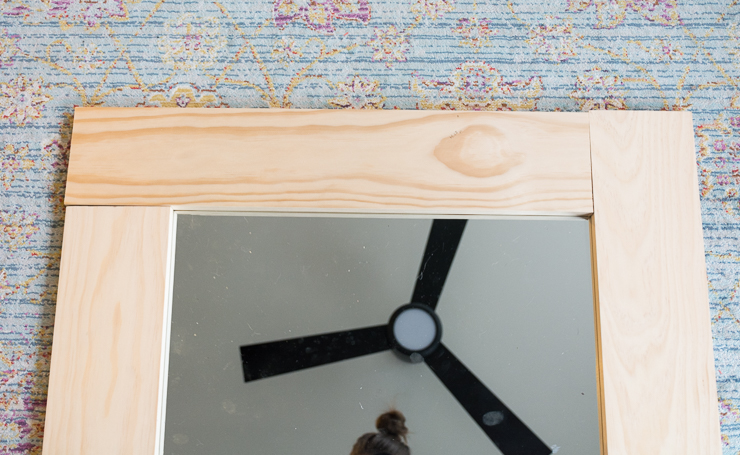 DIY Wood-Framed Mirror Tutorial