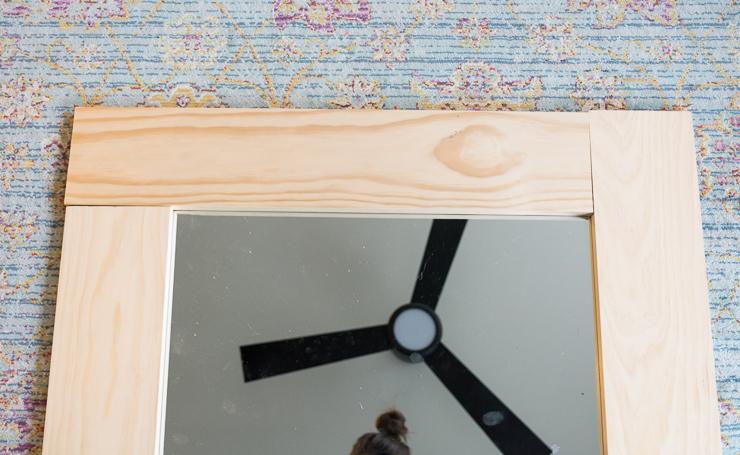 wood mirror frame. DIY Wood-Framed Mirror Tutorial Wood Frame