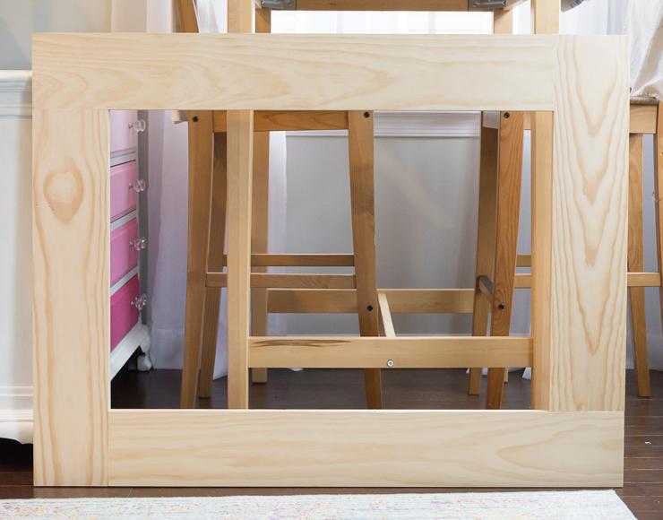 Wood Frame Mirror Diy Crafting