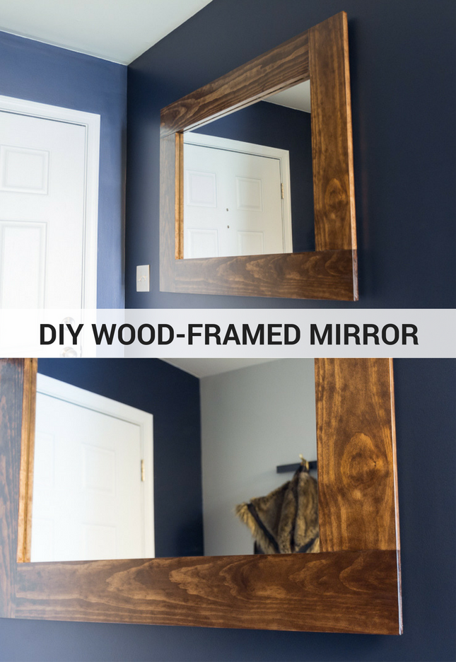 make your own bathroom mirror frame diy wood framed mirror tutorial 25601