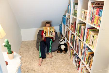 Children's Closet Library with Secret Pass Through | Pretty Handy Girl
