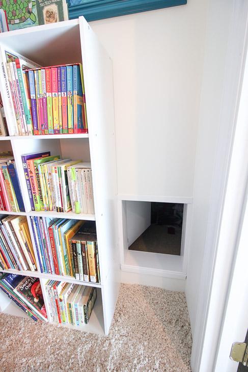 Wonderful Childrensu0027 Closet Library With Secret Pass Through | Pretty Handy Girl