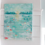 Paint an Abstract Water Lily Painting