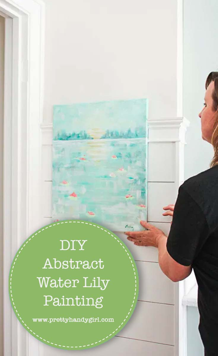 DIY Abstract Water Lily Painting | Pretty Handy Girl