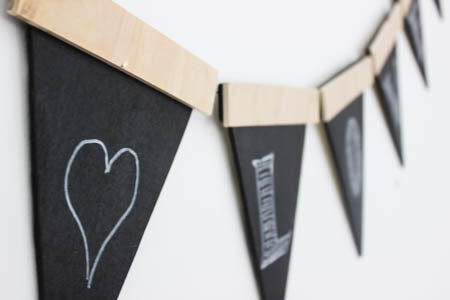 Wooden Party Banner
