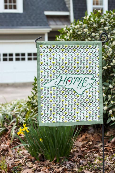 Home State Pride Spring Garden Flag | Pretty Handy Girl