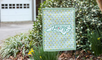 Home State Pride Garden Flag from a Placemat