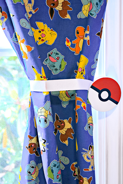 These magnetic curtain tie backs are great for customizing kids rooms!