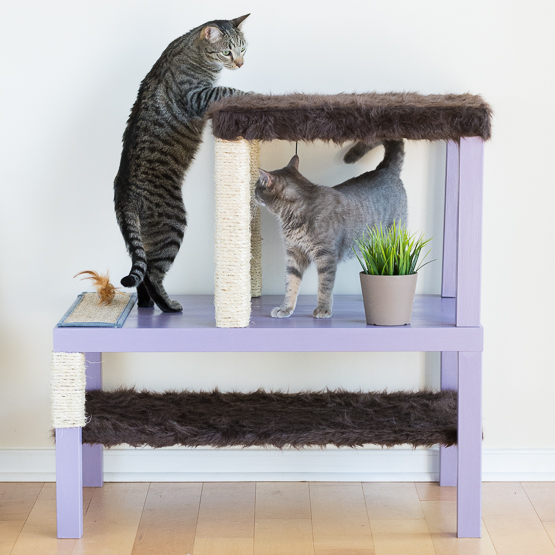 Modern diy cat scratcher post pretty handy girl - Modern cat tree ikea ...