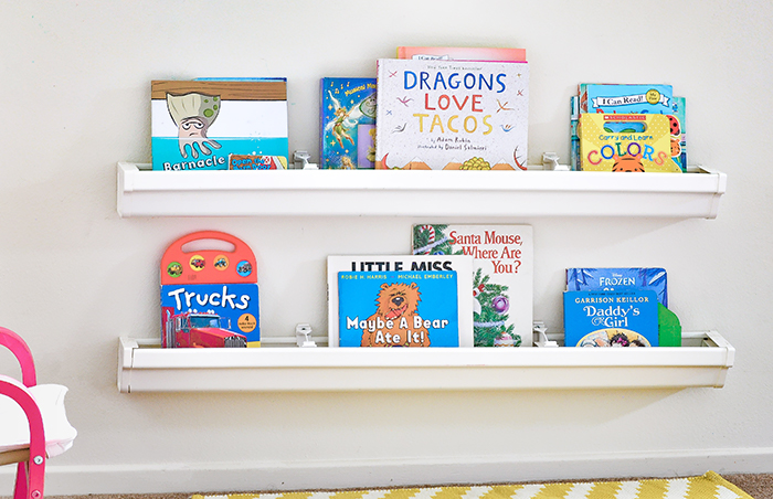 how to install rain gutter bookshelves pretty handy girl