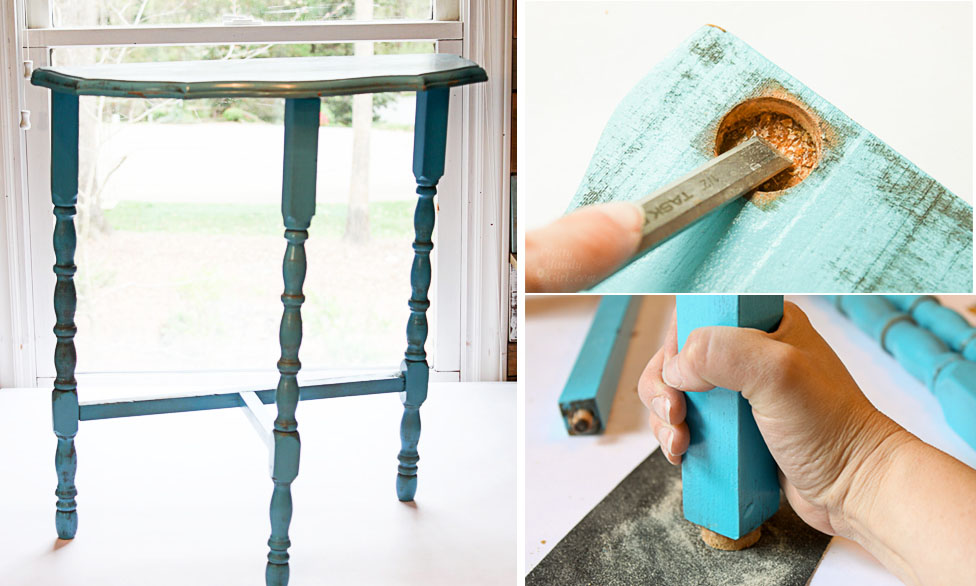 how to fix a wobbly wooden table