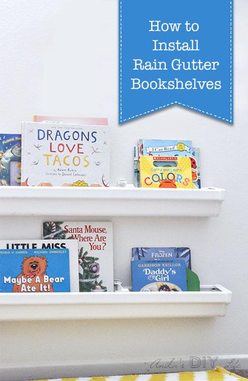 How To Install Rain Gutter Bookshelves Pretty Handy Girl