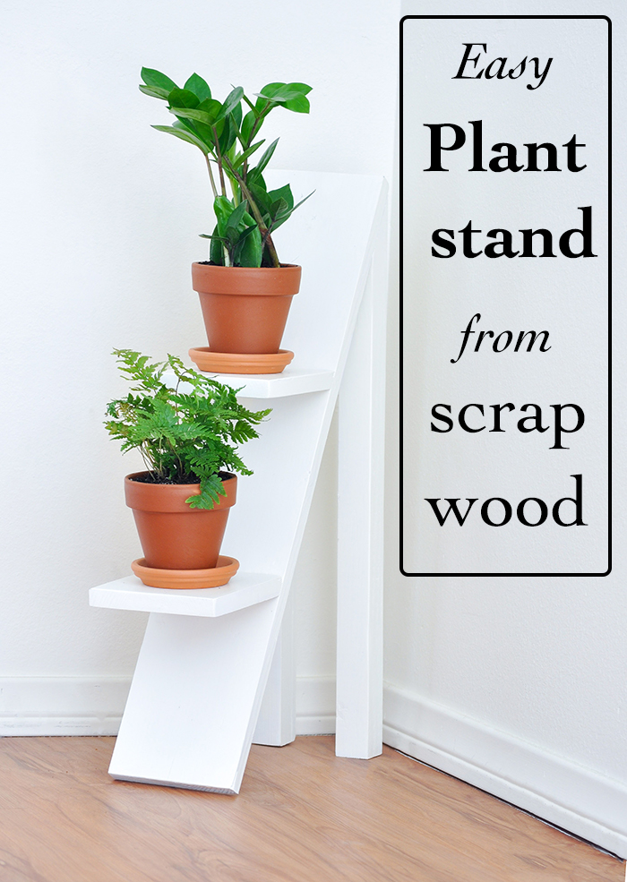 two tiered plant stand using scrap wood pretty handy girl. Black Bedroom Furniture Sets. Home Design Ideas