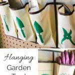 Hanging Garden Tool Organizer