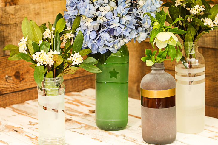 Frosted Glass Vases From The Recycling Bin Pretty Handy Girl