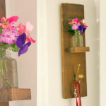 Reclaimed Wood Wall Hook & Vase