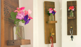 DIY Reclaimed Wall Hook & Vase | Pretty Handy Girl