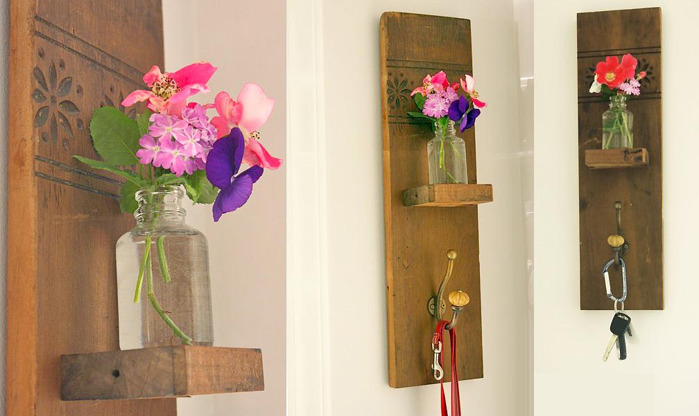 DIY Reclaimed Wall Hook & Vase | Pretty Handy Girl