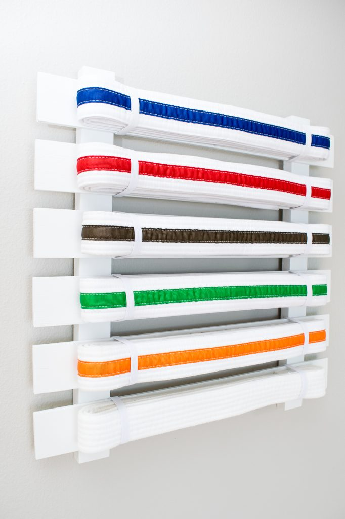 Make your own karate belt display to show off all your hard work!