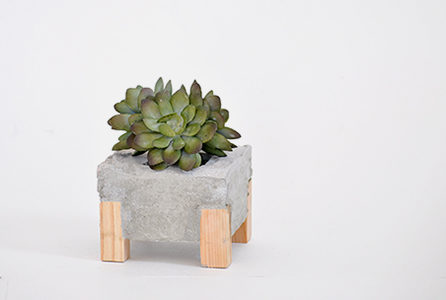 How to make a Concrete and Wood Planter