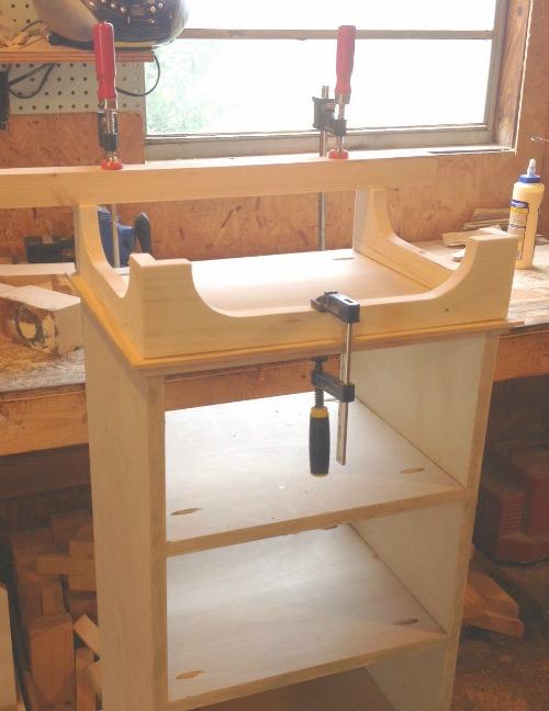 Clamp legs while glue dries