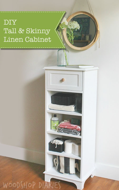 How To Build A DIY Tall, Skinny Linen Cabinet