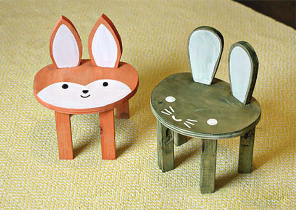 Cute DIY Animal Toddler Stools | Pretty Handy Girl