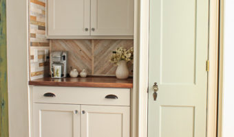 Pantry with Coffee Bar and Hidden Wine Storage | Pretty Handy Girl