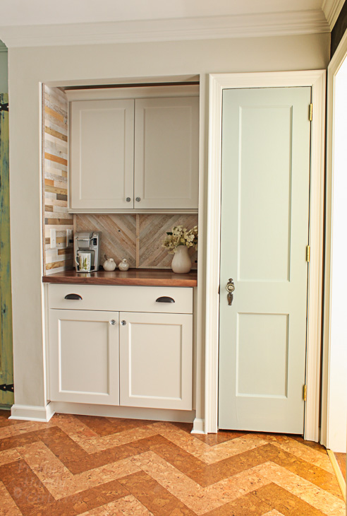 Pantry Reveal With Coffee Bar And Hidden Wine Storage Pretty Handy